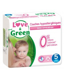 Love & Green - Couches jetables hypoallergéniques - Taille 5