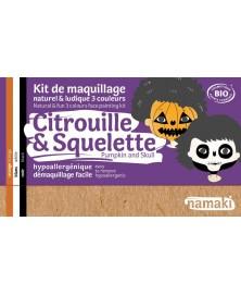 Namaki - kit 3 couleurs citrouille et squelette BIO